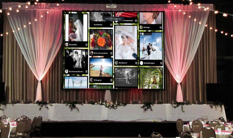 wedding social wall