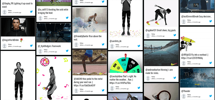 Twitter Wall Nike Taggbox