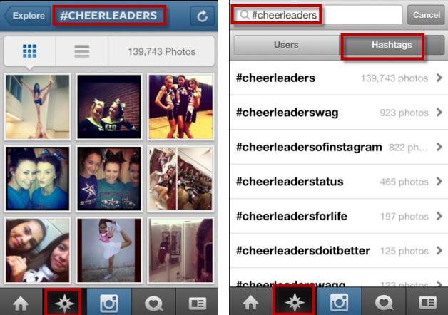 Instagram Post hashtag