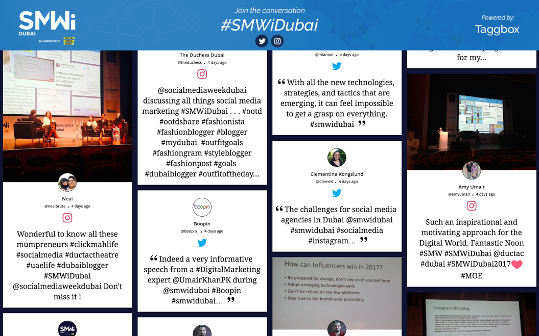Social Media Week Dubai Twitter Wall