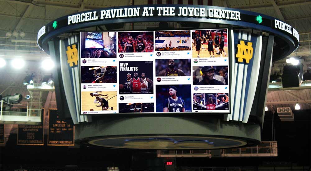 Social Wall on jumbotron
