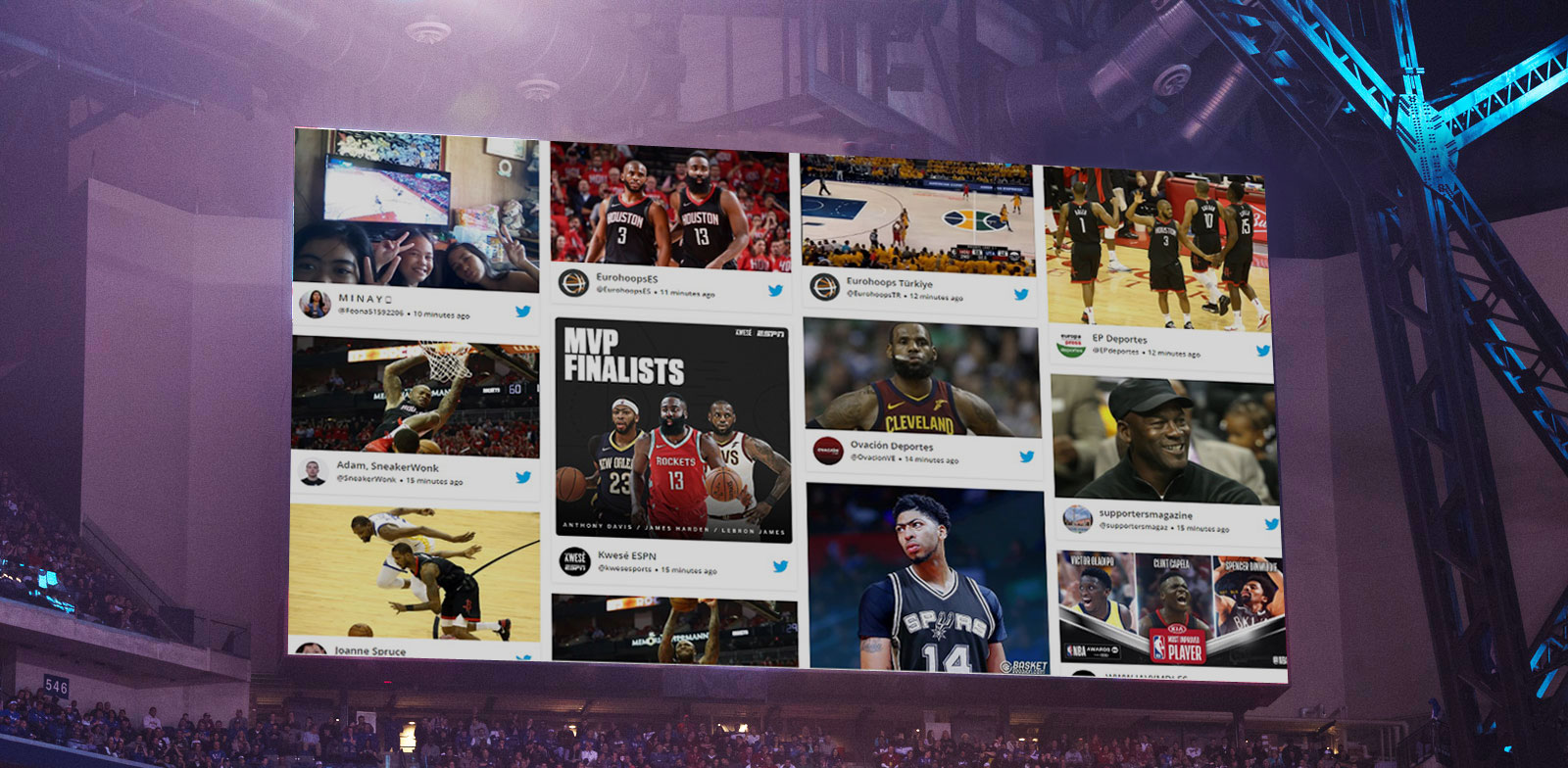 Social Wall at sports event