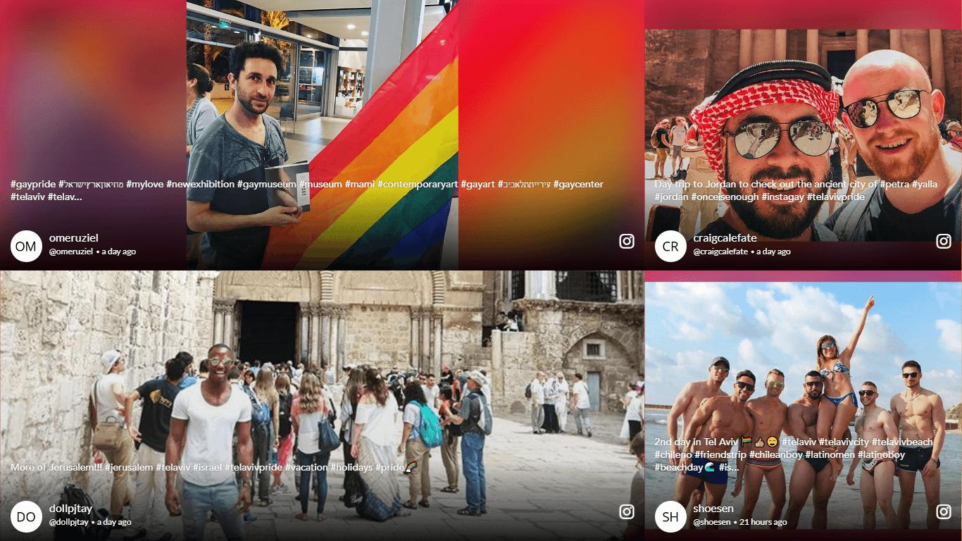 Facebook Israel Pride Wall