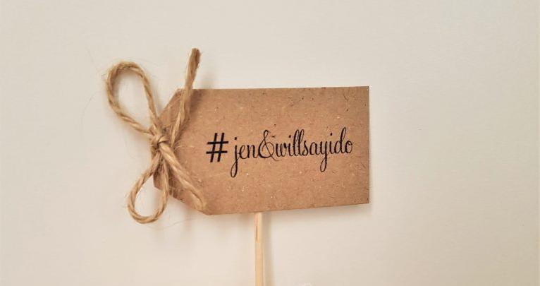 wedding hashtag