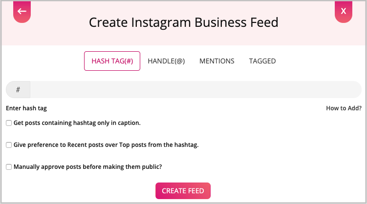 Instagram feed html