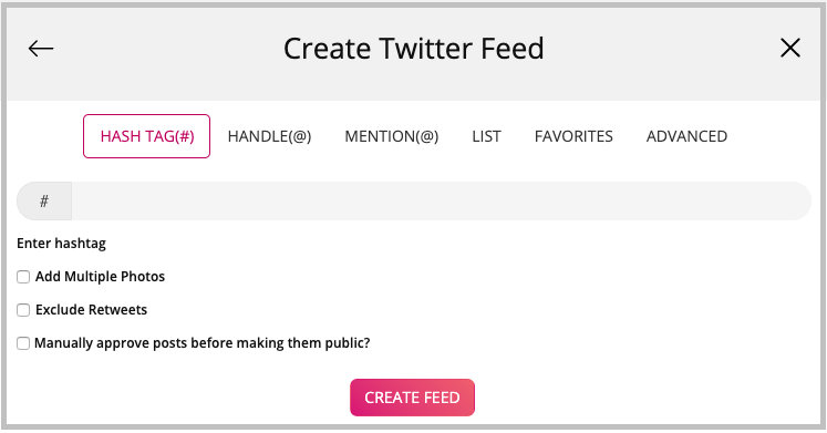 how to embed a twitter feed
