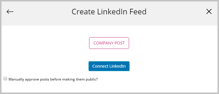 linkedin feed widget