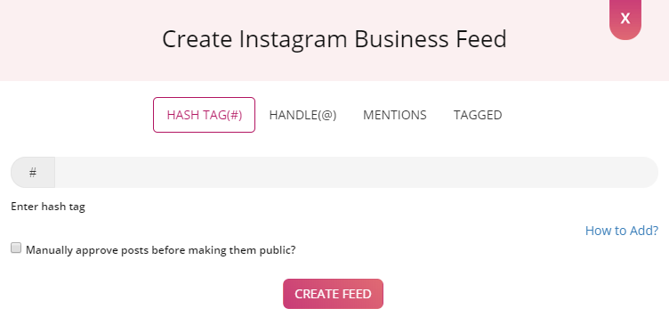 instagram hashtag feed on website
