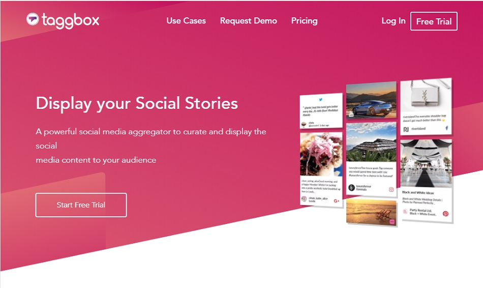 Taggbox Social Media Wall for events