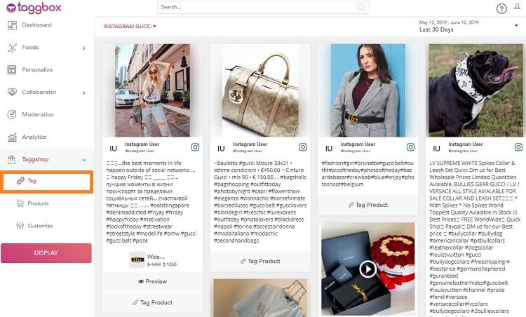 shoppable feeds
