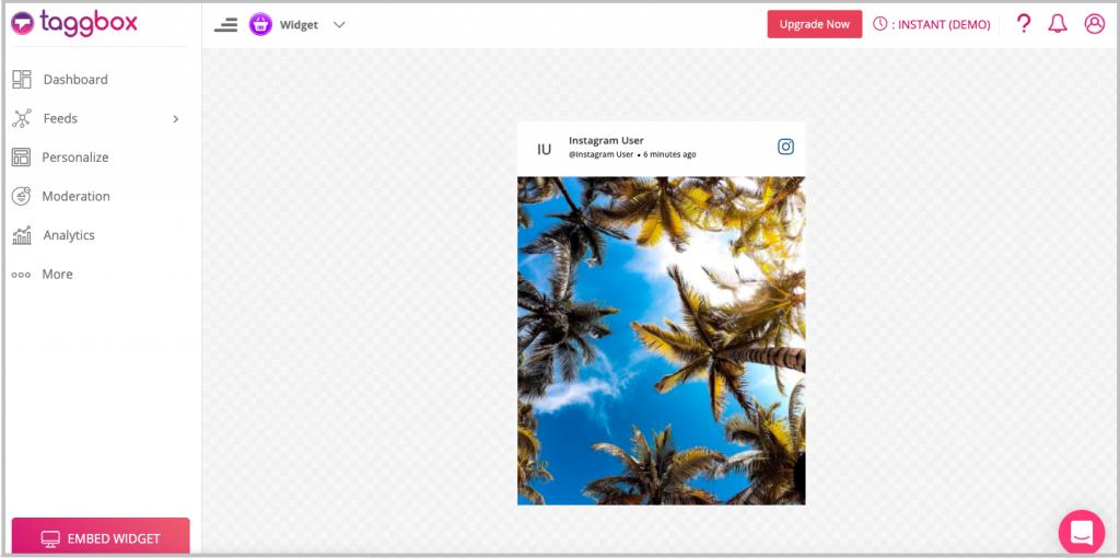 embedding Instagram content on website