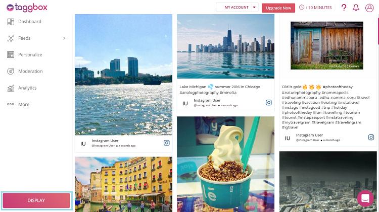 Instagram feed on wix website