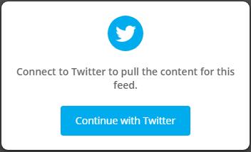 Embed Twitter Widget