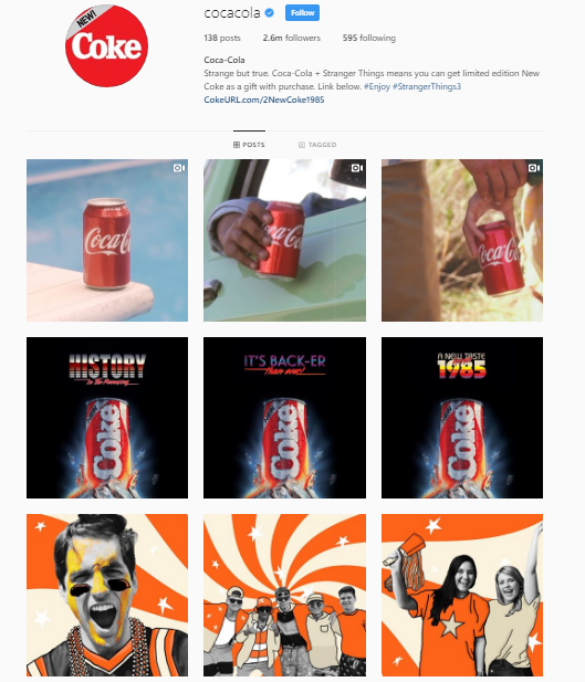 Instagram brand profile