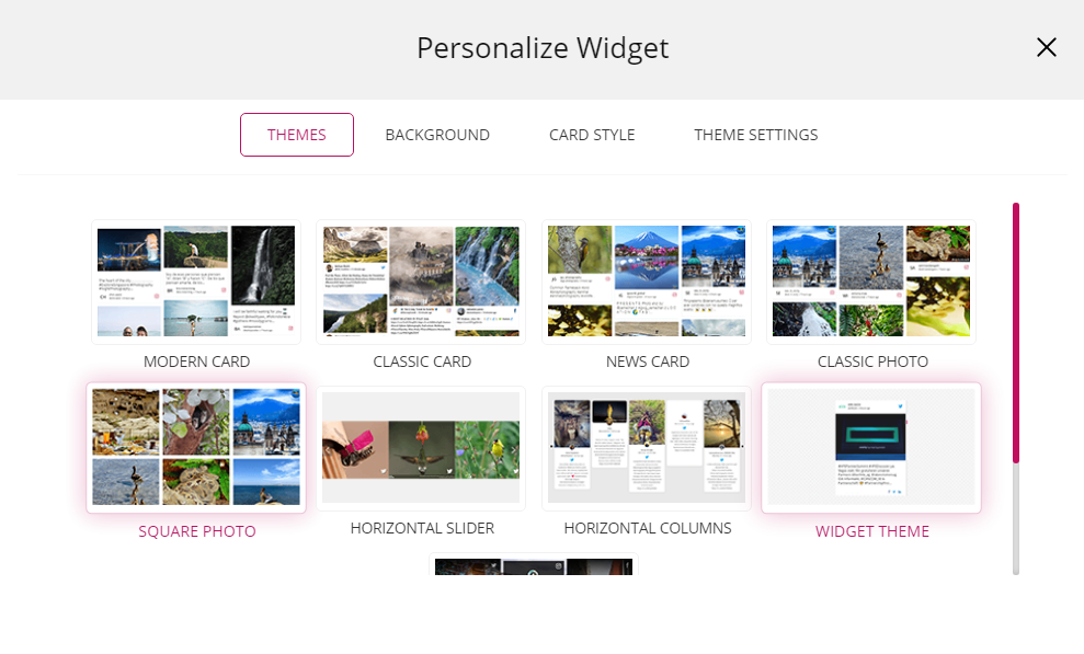 twitter widget theme