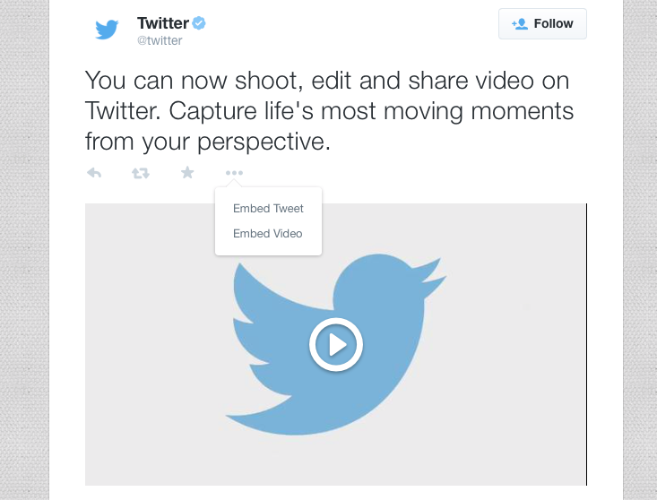 Twitter video tweet