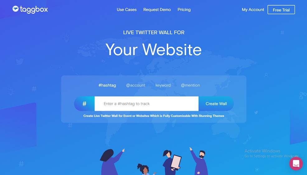 Twitter feed on website