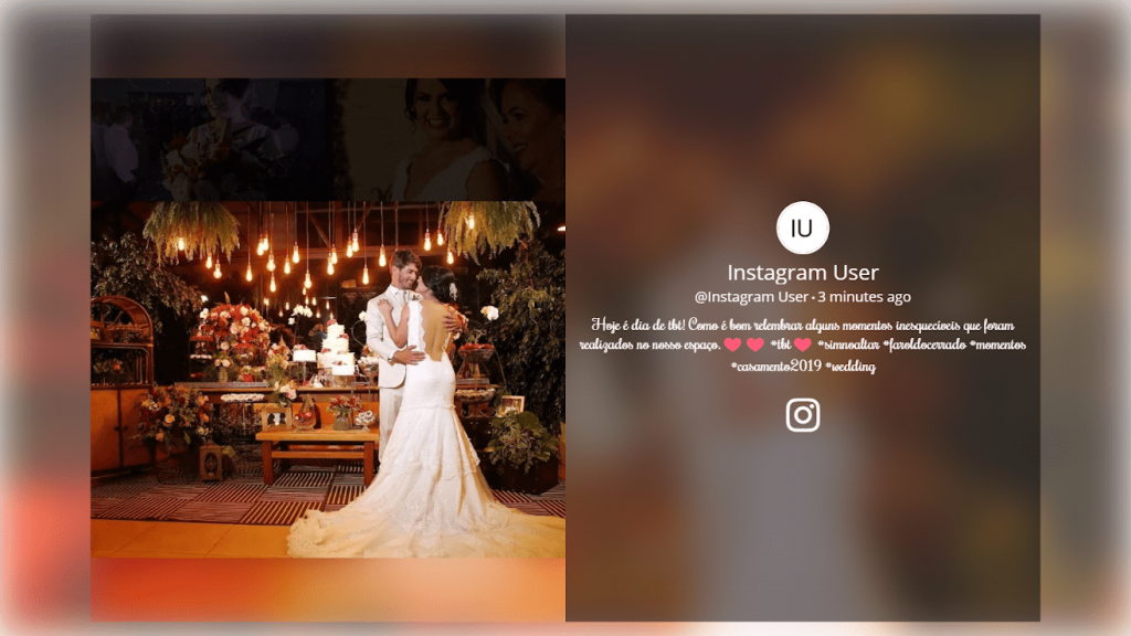 instagram hashtag slideshow theme