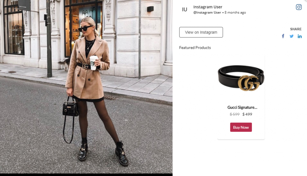 Social Commerce: Shoppable Buy Button Example