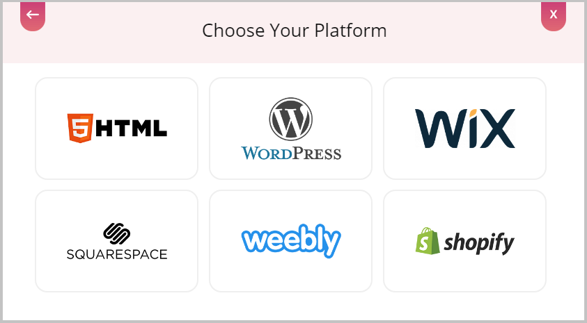 Choose Platform for Embed Tumblr""