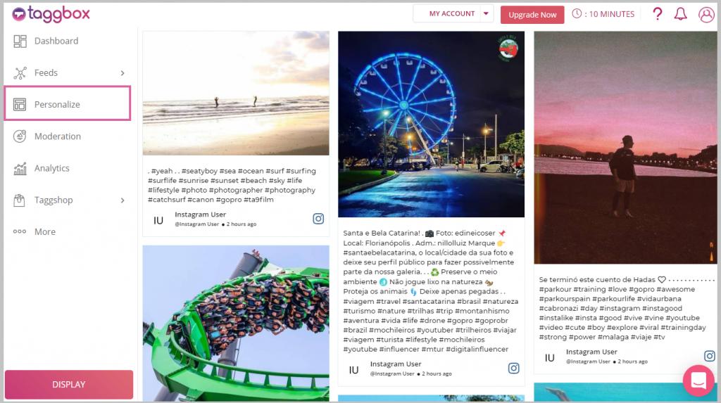 Personalize your Instagram slider