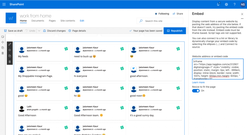 slack channel on sharepoint