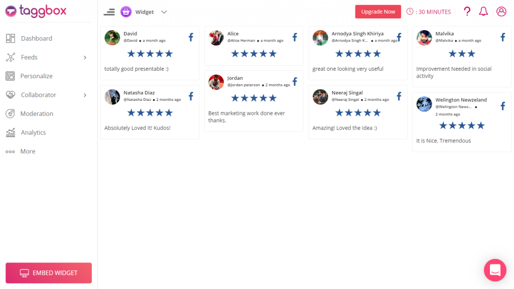 embed facebook reviews on shopify