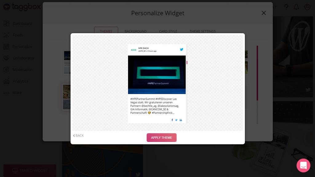 Twitter widget embed