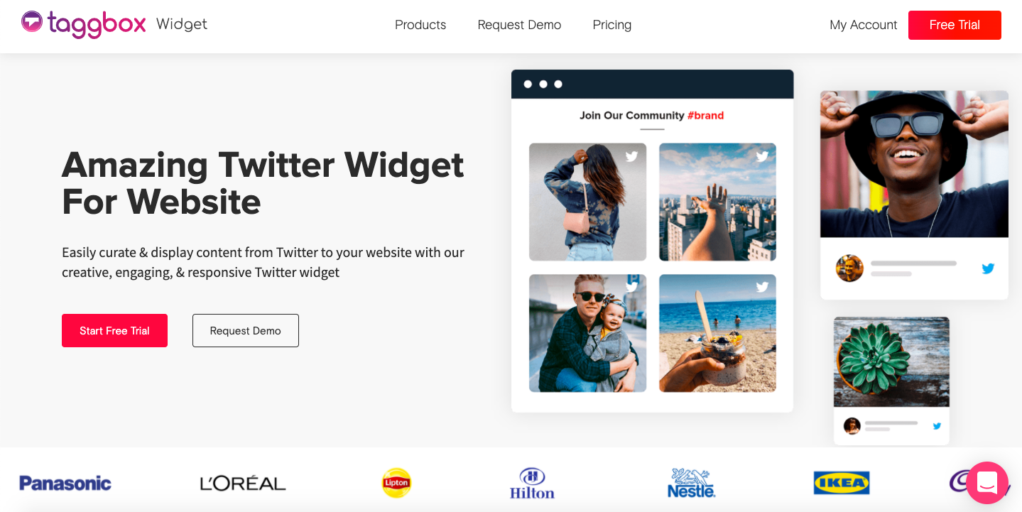 live twitter feed on website