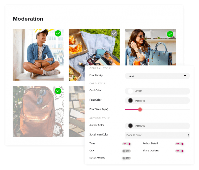 moderation feature in social media aggregator