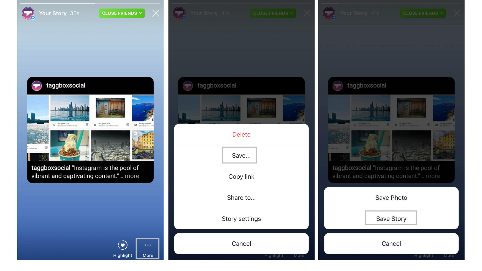how to save videos from instagram stories