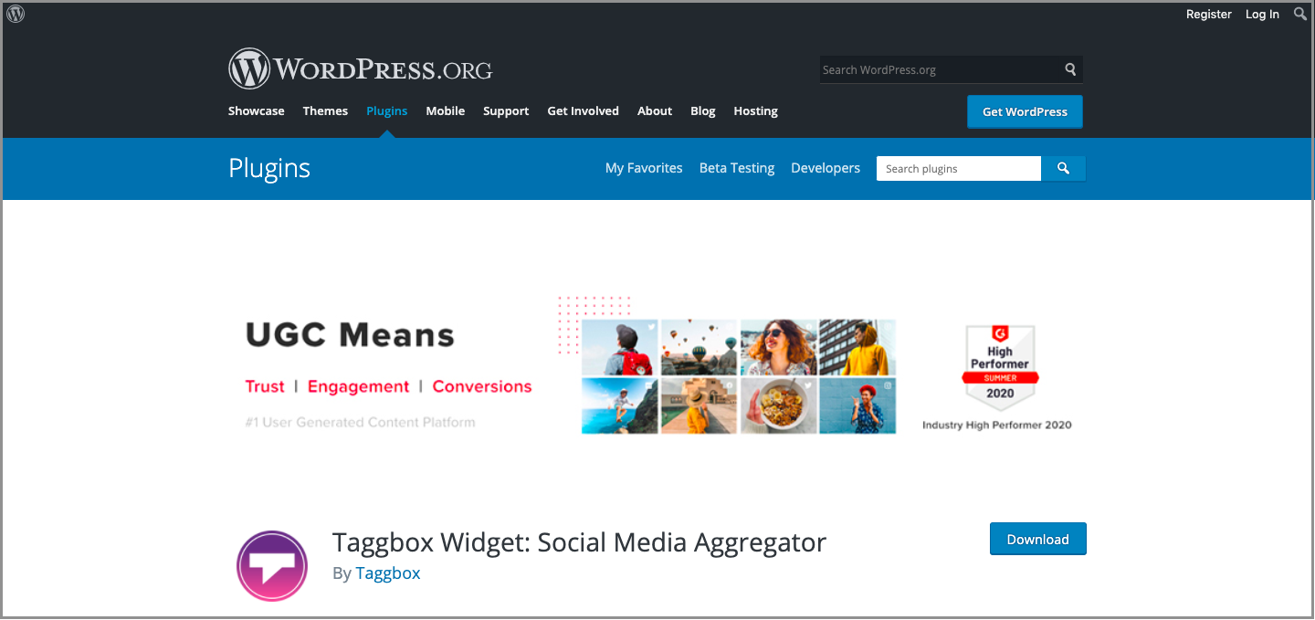 Taggbox Widget WordPress Plugin
