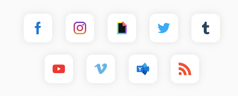 aggregate feeds from different social media platform