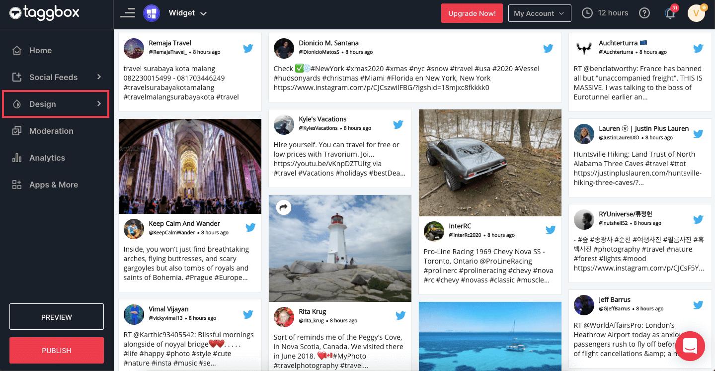 Display Twitter Widget