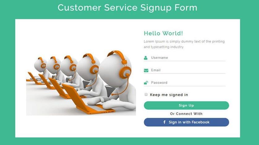 Customer Service Widget