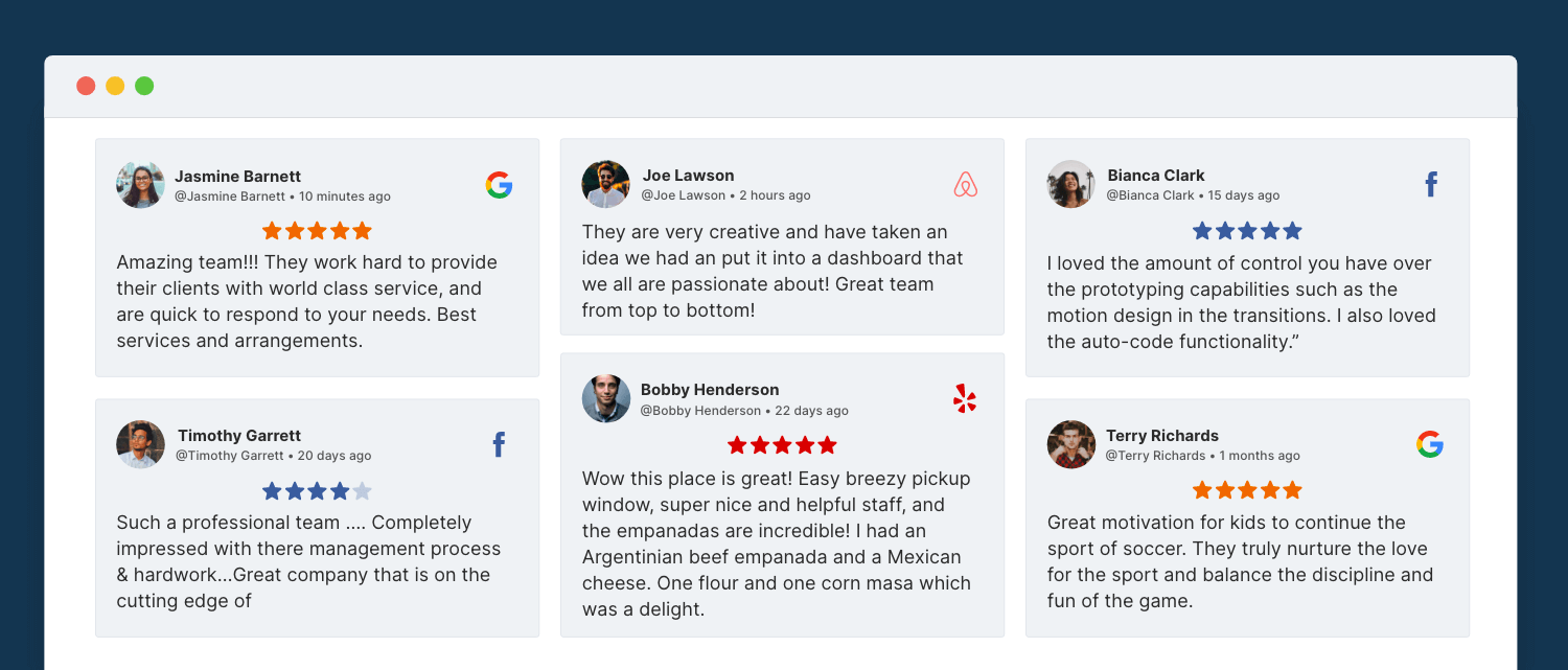 add reviews to squarespace