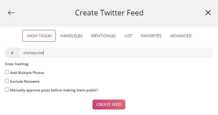 Twitter Hashtag Feed