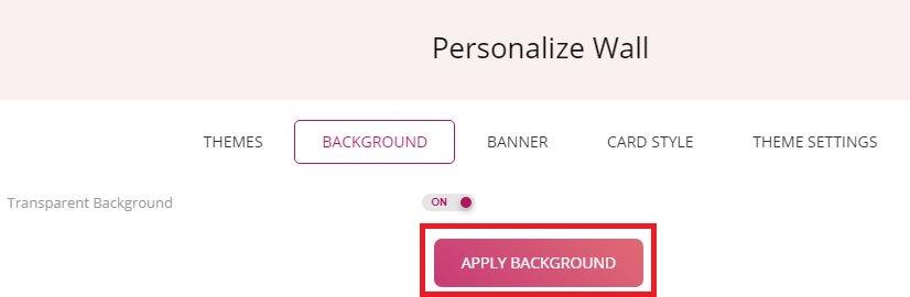 Apply Transparent Background