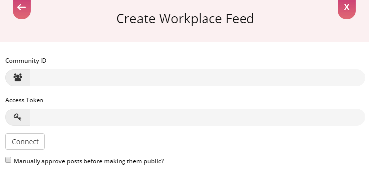 Connect to Workplace to Embed Workplace Feed on WIX Website