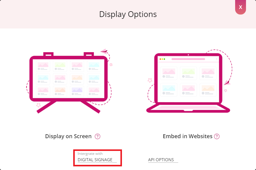 display options window