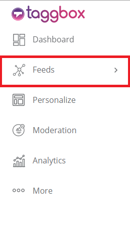 sidebar options select feeds