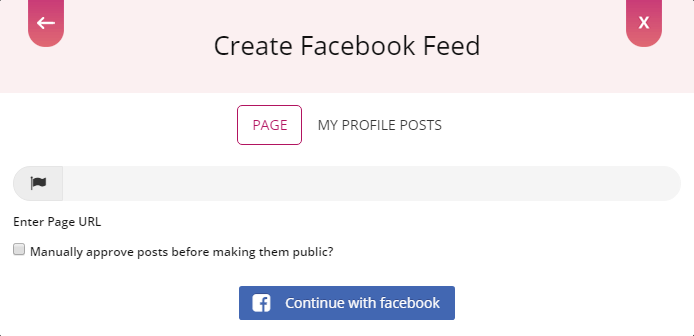 Create Facebook Feed