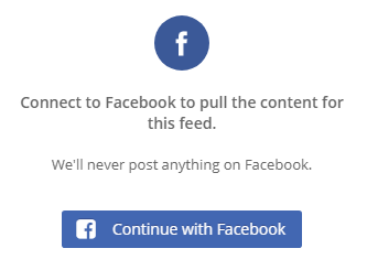 Facebook Feed Credential