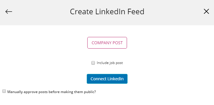 Create LinkedIn Widget