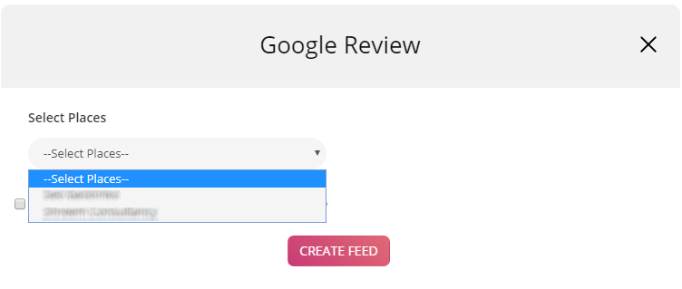 Embed Google page reviews on rating