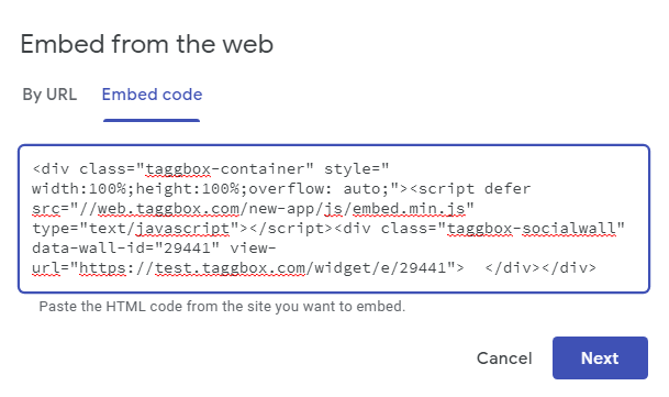 Embed Google Review Code
