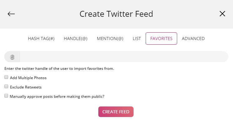 Embed Twitter hashtag on HTML