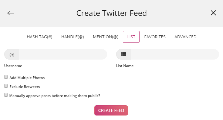 Embed Twitter on HTML