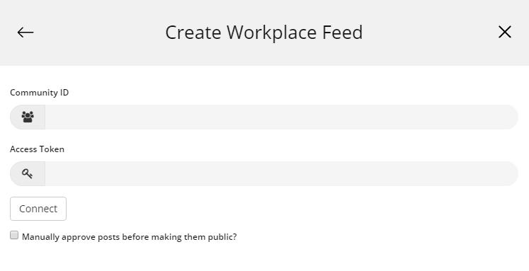 Create workplace feed