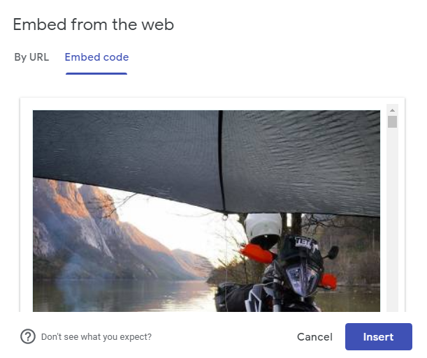 Embed Facebook reviews feed code on Google site